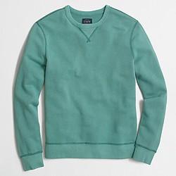 Factory sunwashed garment-dyed crewneck sweatshirt