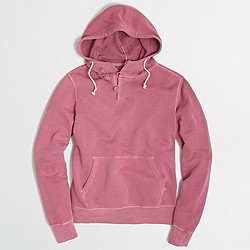 Factory sunwashed garment-dyed hoodie
