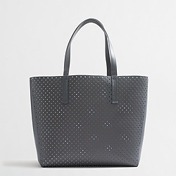 Factory perforated tote bag