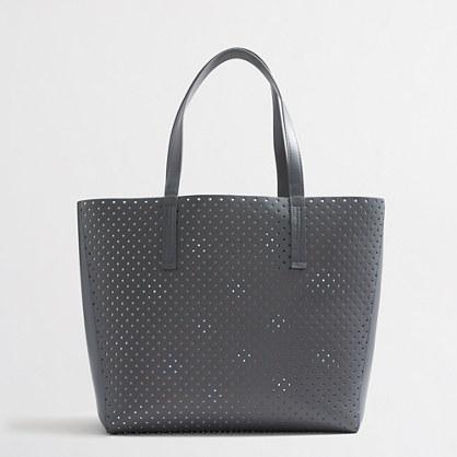 Perforated tote bag