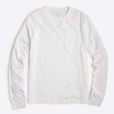 Long-sleeve sunwashed garment-dyed T-shirt