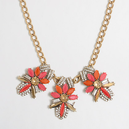 Triple fleur necklace