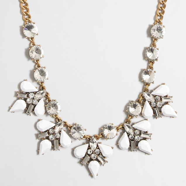 Pointed clusters necklace