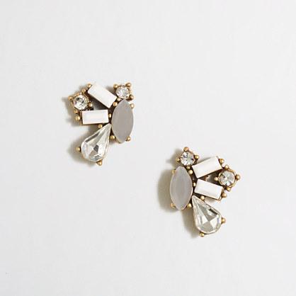 Gem clusters stud earrings