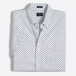 Factory slim short-sleeve printed oxford shirt