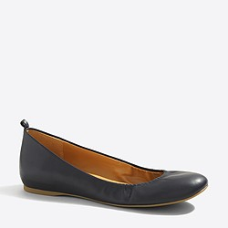 Factory Anya leather ballet flats