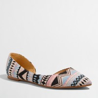 Classic d'Orsay flats in woven Aztec