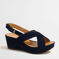 Factory suede Darcy wedges