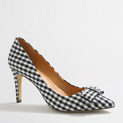Isabelle gingham bow pumps