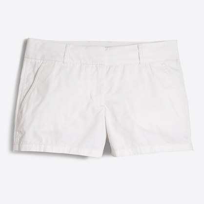 "3"" white chino short"