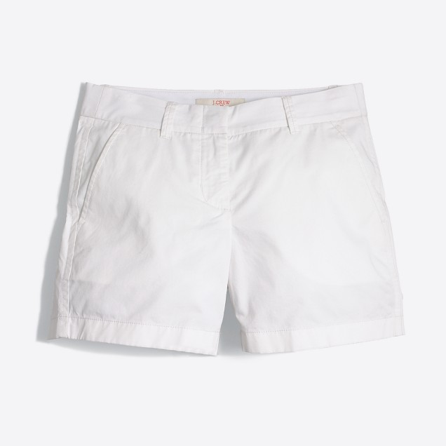 "5"" white chino short"