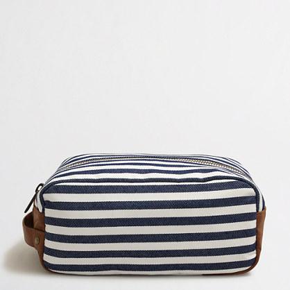 Striped dopp kit