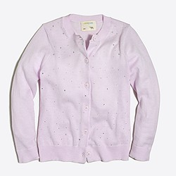 Girls' sparkle cardigan sweater