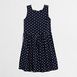 Factory girls' printed bow-back dress