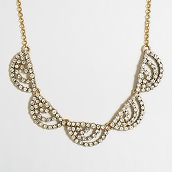 Factory crystal dots necklace