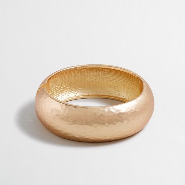 Golden hammered bracelet