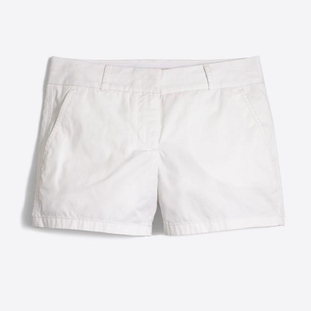 """4"""" white chino short"""