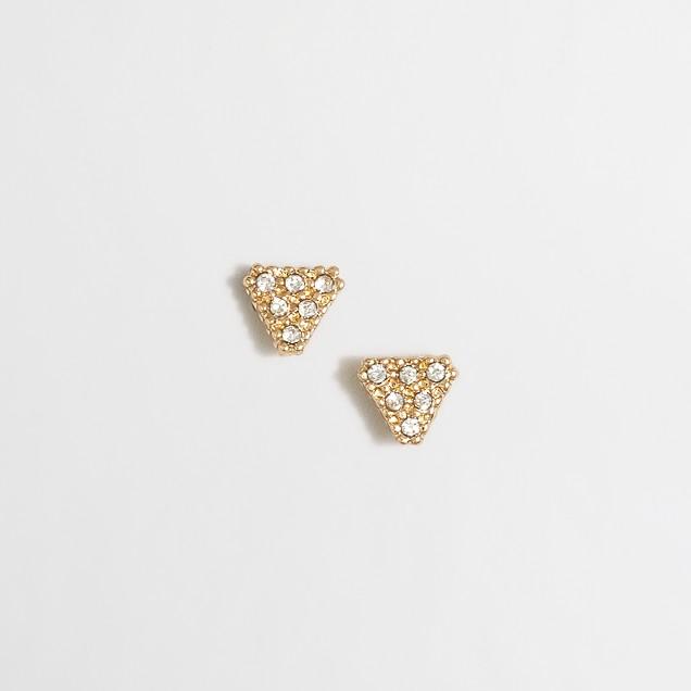 Pavé triangle earrings