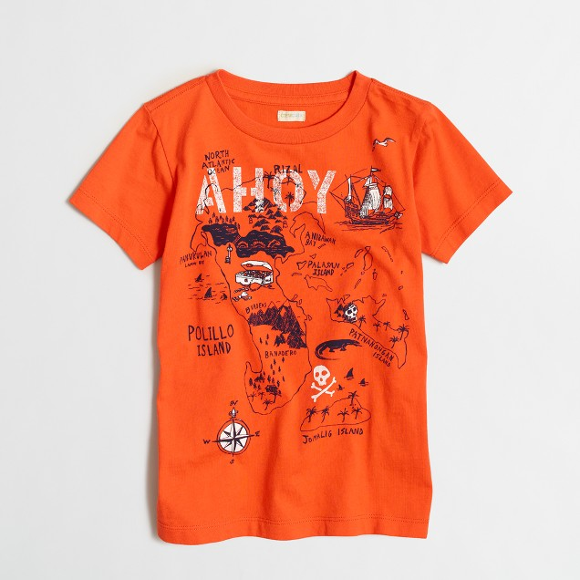 Boys' treasure map storybook T-shirt