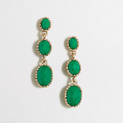 Tiered drop earrings