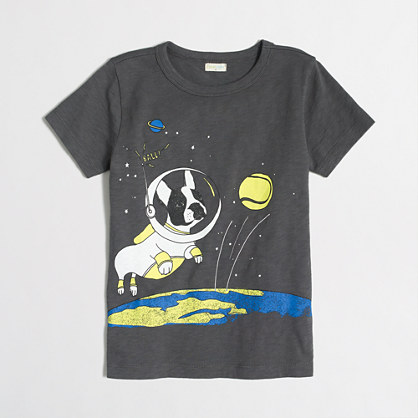 Boys' dog on the moon storybook T-shirt