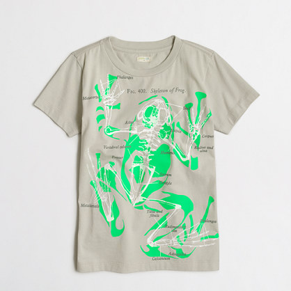Boys' glow-in-the-dark frog storybook T-shirt