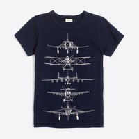 Boys' glow-in-the-dark planes storybook T-shirt