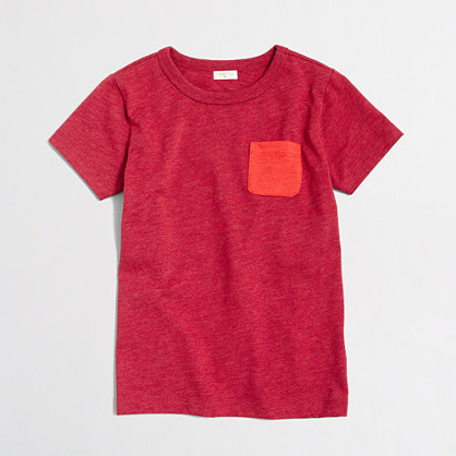 Boys' heathered contrast pocket T-shirt