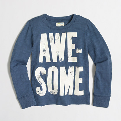 Boys' awesome lightweight crewneck sweatshirt