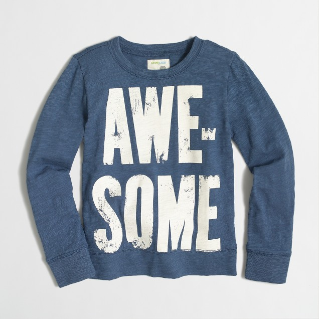 Boys' awesome lightweight crewneck sweatshirt