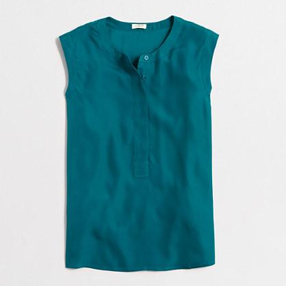 Drapey sleeveless popover shirt