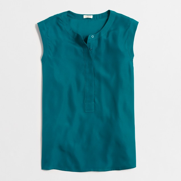 Drapey sleeveless popover shirt