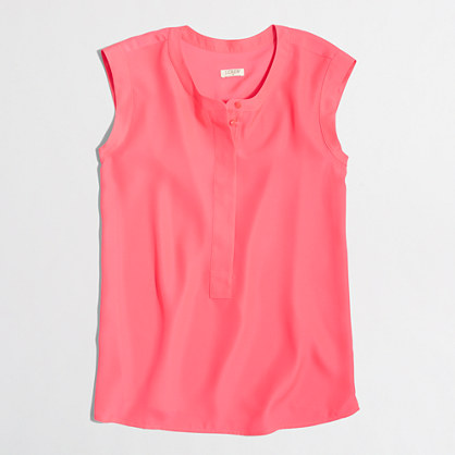 Drapey sleeveless popover shirt Sleeveless #1: E8261 PK5491 $pdp fs418$