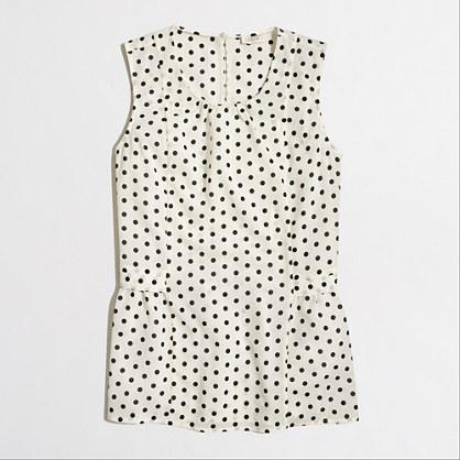 Printed sleeveless flounce top