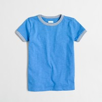 Boys' heathered contrast ringer T-shirt