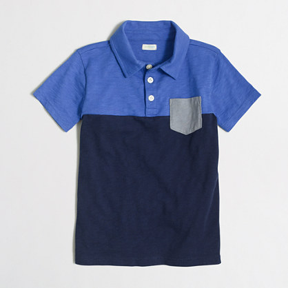 Boys' contrast pocket polo shirt