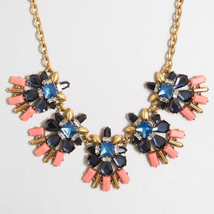 Stone fringe necklace