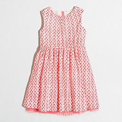Factory girls' neon hearts dress