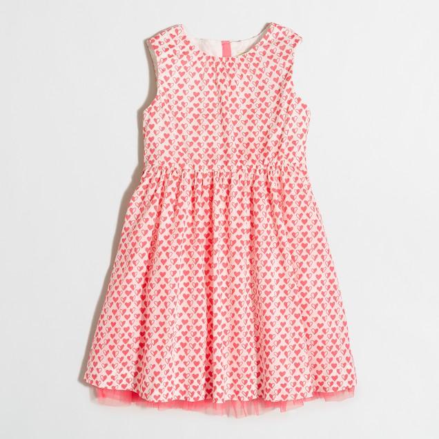 Girls' neon hearts dress