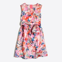 Girls' watercolor floral dress