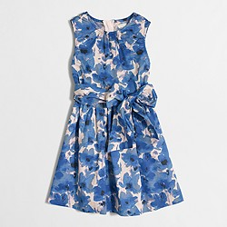 Factory girls' watercolor floral dress