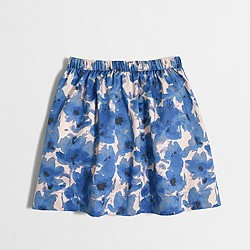 Factory girls' watercolor floral skirt