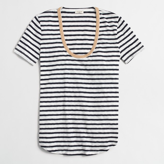 Striped necklace T-shirt