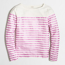 Factory metallic-striped T-shirt