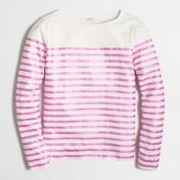 Metallic-striped T-shirt