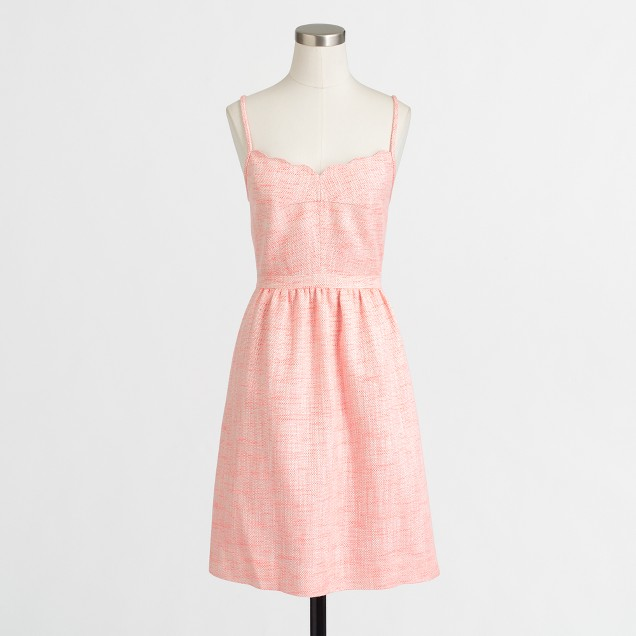 Shimmer scalloped cami dress