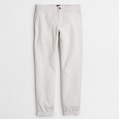 Linen-cotton jogger pant