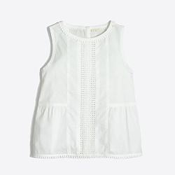 Girls' cotton shell