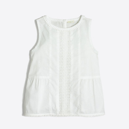 Girls' cotton shell