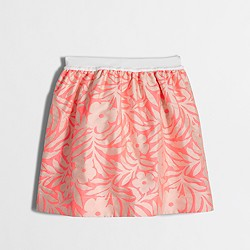 Factory girls' neon floral pull-on skirt
